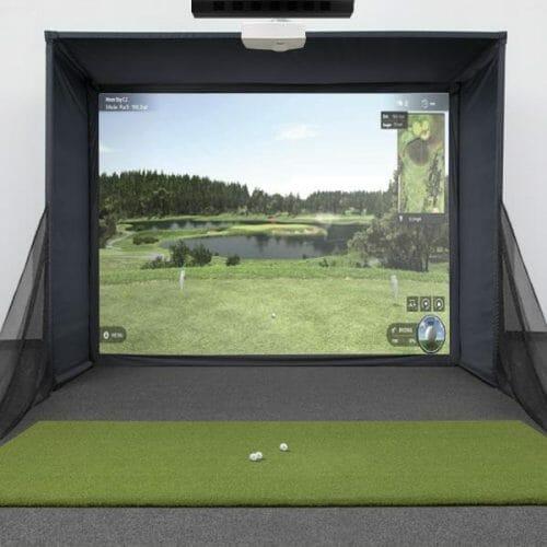Uneekor EYE XO SwingBay Golf Simulator Package
